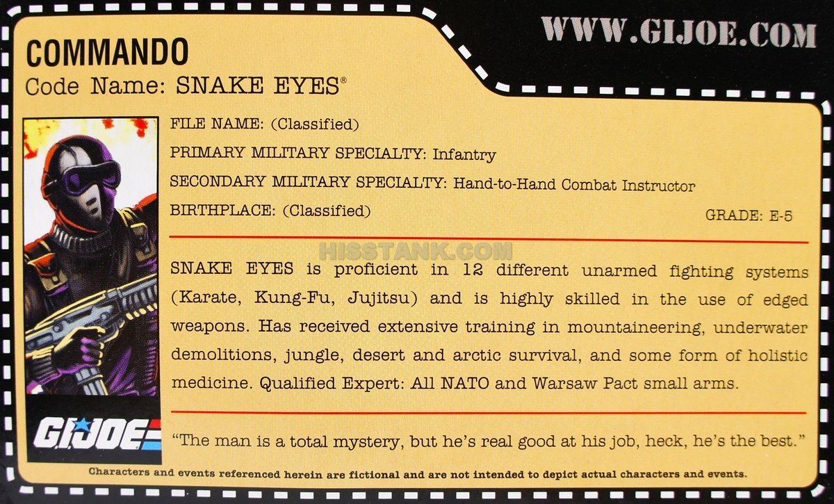 Snake Eyes Cards