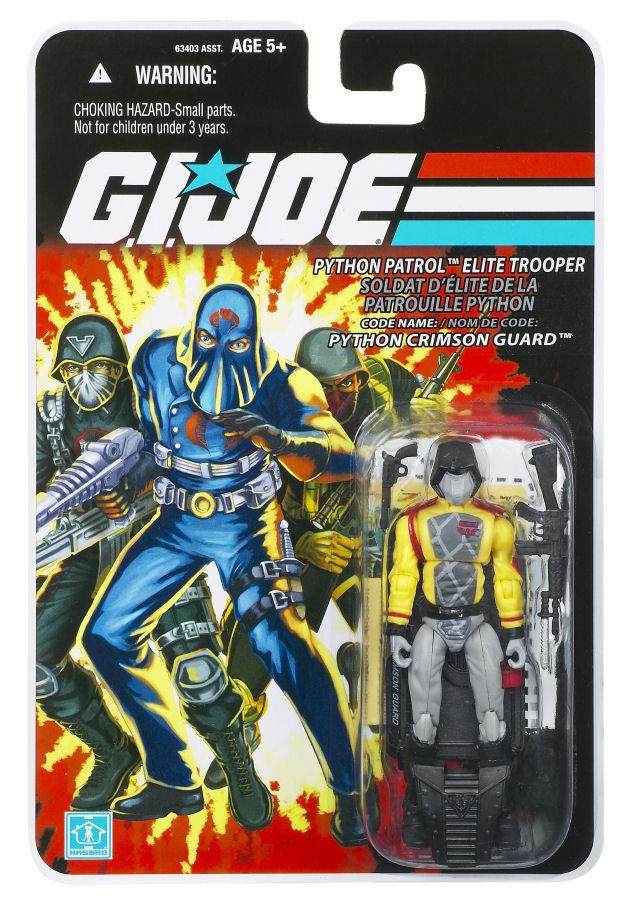 GI Joe 25th Ann Figure Stand Cobra figure le nom de code Crimson Guard Python